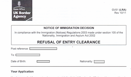 Appeal Immigration refusal